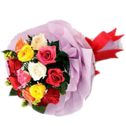 Stunning Splendor Mixed Roses Premium Bouquet