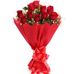 Elegant Pure Indulgence Love Red Roses Bouquet