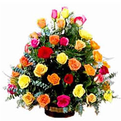 Fashionable Selection of Mixed Roses