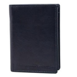 Eye-Catching Urban Forest Leather Coat Wallet for Gents in Black