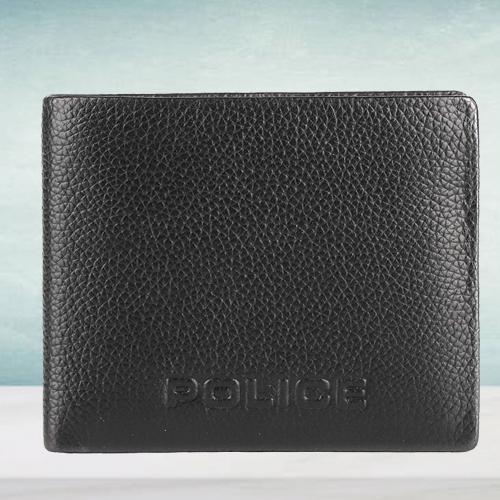 Fantastic Police Brand Mens Leather Wallet in Black