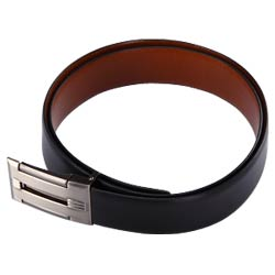 Reversible leather belt for gents