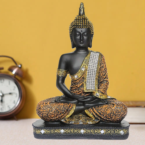 Traditional Sitting Buddha Idol for Home Decoration