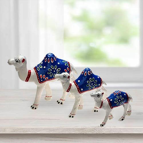 Impressive 3pc Camel Showpiece Set