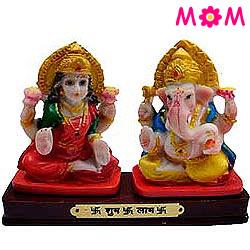 Auspicious Lakshmi Ganesha Gift Statue with Love