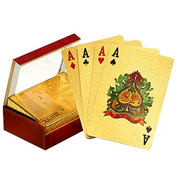 Amazing Authentic and Certified Gold Plated Playing Cards