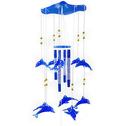 Adorable Blue Dolphins Wind Chime