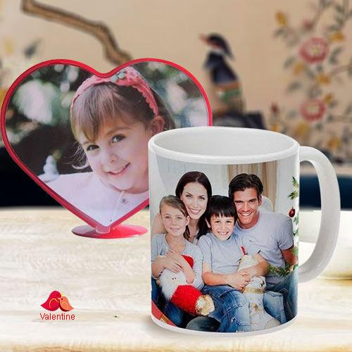 Stylish Personalized Heart Shape Photo Coffee Mug