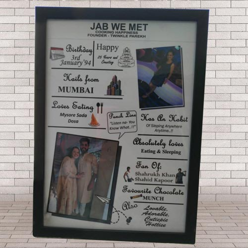 Marvelous All About Me Frame