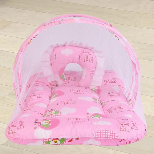 Wonderful Pink Mattress with Mosquito Net
