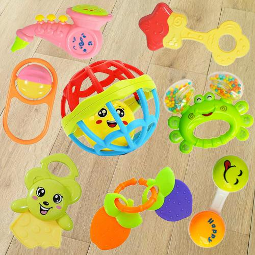 Marvelous Rattles and Teethers Toys Set for Babies