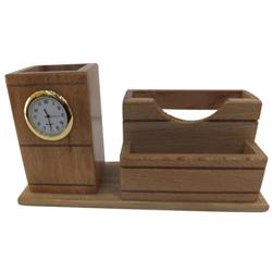 Distinctive 2-in-1 Wooden Pen Stand