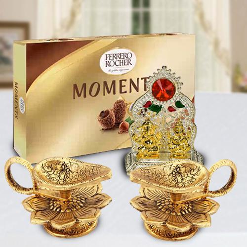 Exclusive Diya with Ferrero Rocher and Ganesh Laxmi mandap