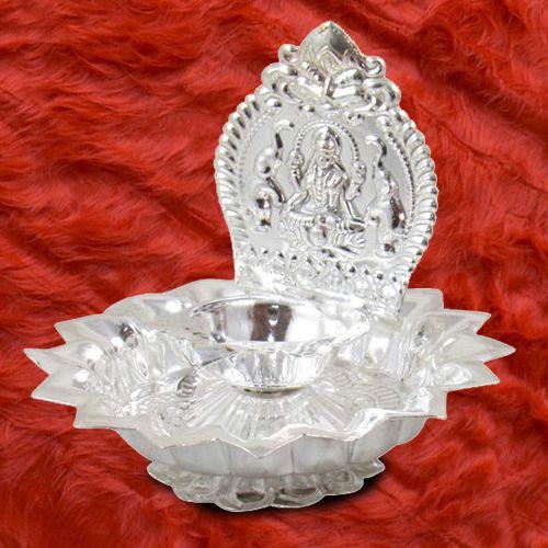 Marvelous Lakshmi Diya Pooja Thali Set