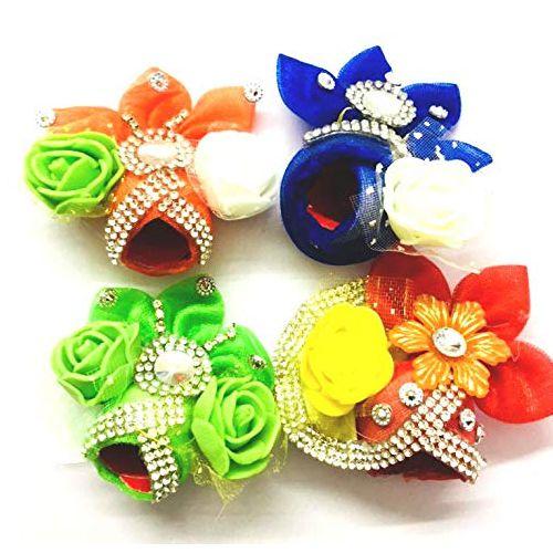 Set of 4 Designer Cotton Turbans for Laddu Gopal