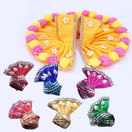Exclusive Laddu Gopal Ji Designer Dress with 6 Pcs Pagdi<br>