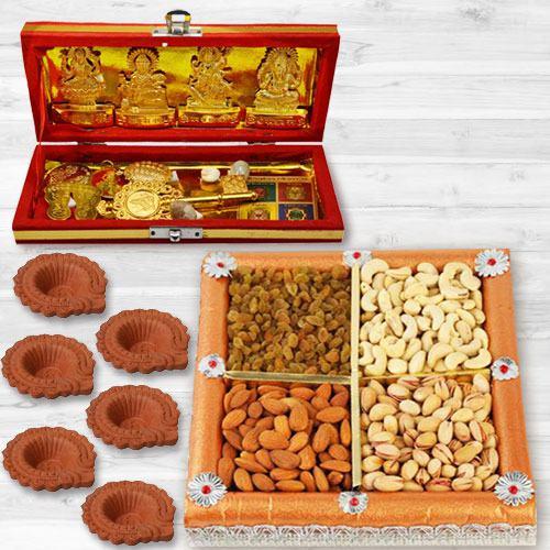Pious Dhan Laxmi N Kuber Bhandari Yantra Combo Gift