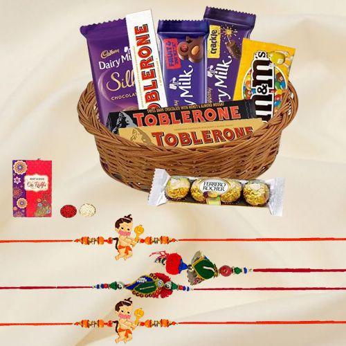 Imported Chocolates Rakhi Gifts