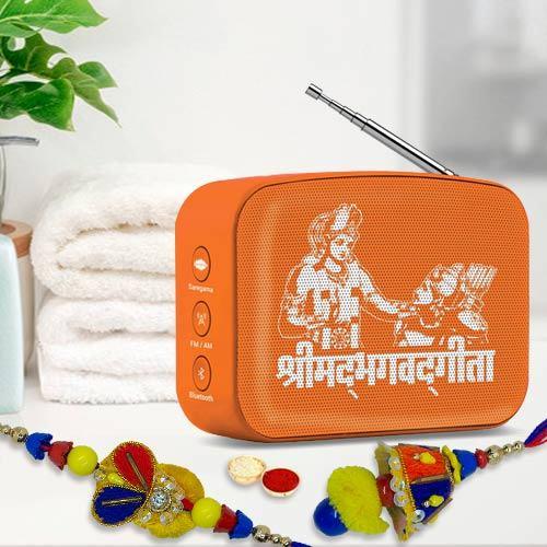 Audible Gita from SAREGAMA with Bhai-Bhabhi Rakhi n Almonds