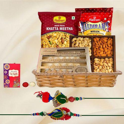 Sweets N Savory Bhaiya Bhabhi Rakhi Gift Hamper