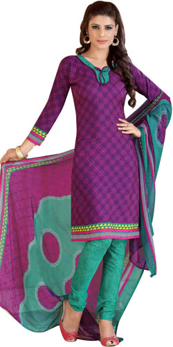 Pretty Siya Branded Crepe N Chiffon Printed Salwar Suit