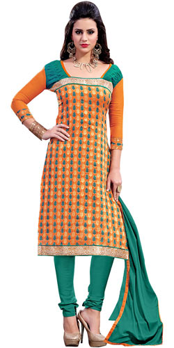 Nifty Panache Chanderi Salwar Suit
