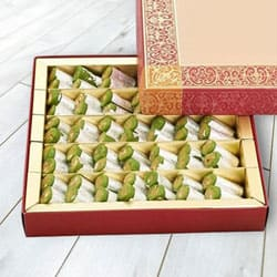 Delectable Kaju Pista Rolls from Haldirams