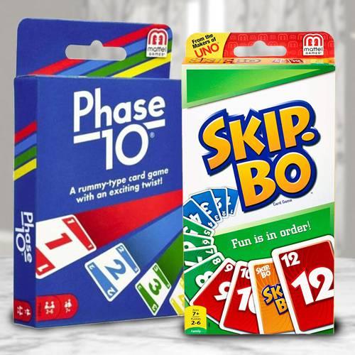 Exclusive Mattel Skip Bo N Phase 10 Card Game