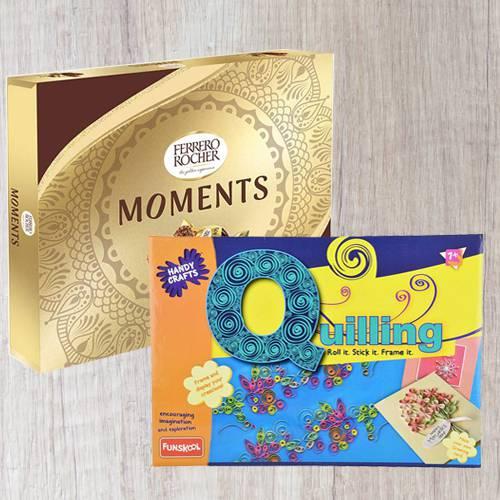 Wonderful Funskool Quilling Art N Ferrero Rocher Moments