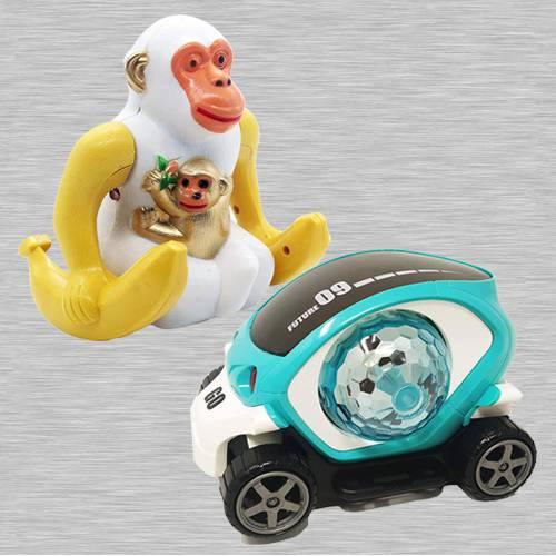 Amazing Webby Funny Orangutan N 360 Degree Rotating Stunt Car