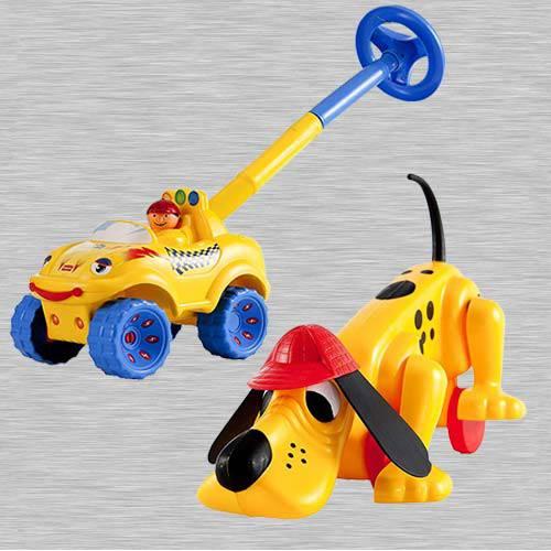 Exclusive Funskool Walk N Drive Truck N Digger The Dog