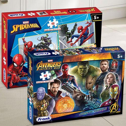 Wonderful Frank Marvel Spider-Man N Avengers Infinity War Puzzle Set