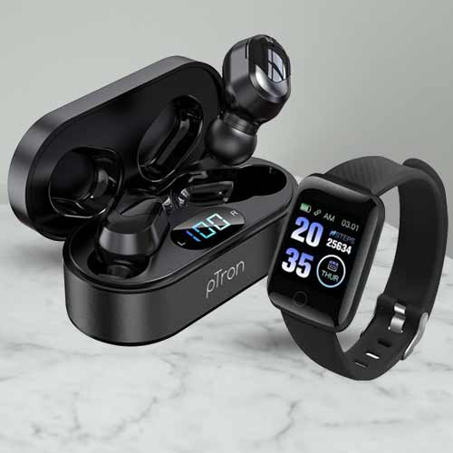 Wonderful Smart Watch N pTron Wireless Headphones