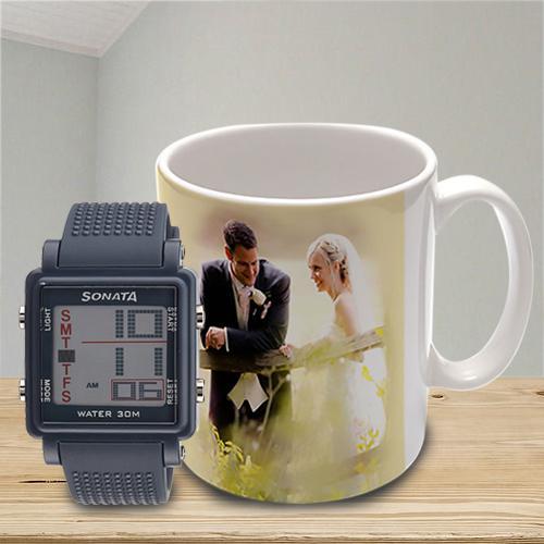 Exclusive Sonata Super Fibre Watch N Personalized Mug